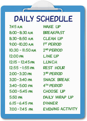 activities daily schedule